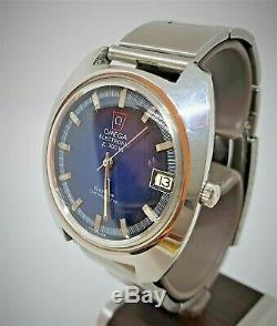 Vintage SS Omega f300 Geneve Chronometer cal 1250 Tuning Fork watch