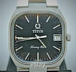 Vintage SS Titus Tuning Fork watch ESA9162