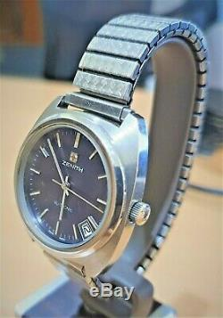 Vintage SS Zenith XL-Tronic Tuning Fork watch cal 50.0 (ESA9162)