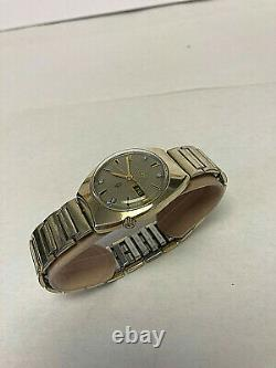Vintage Solid 14k Gold Bulova Accutron Diamond Dial Tuning Fork Watch 1970 218