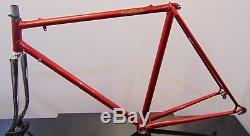 Vintage Steel Frame & Chrome Forks Campagnolo Cinelli 54cm Pro Frame