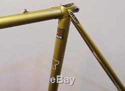 Vintage Steel Olmo Competition Frame & Chrome Forks Columbus Tubing 57CM