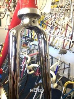 Vintage Steel Rossin 49cm Frame & Chrome Forks Campagnolo Refurbished