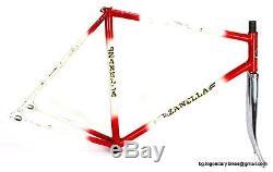 Vintage TRACK PISTA Bike ZANELLA Lugged Steel FRAME FORK set Made in Italy Campy
