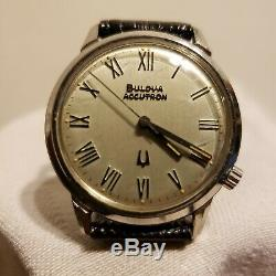 Vintage Tuning Fork Bulova Accutron Mens Stainless
