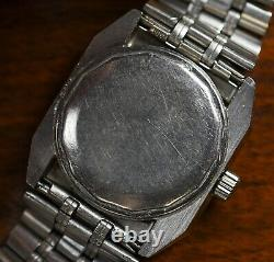 Vintage UNIVERSAL GENEVE Unisonic Tuning Fork Stainless Watch ORIGINAL BAND